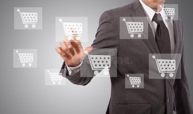 Touh d'icône de commerce électronique image libre de droits