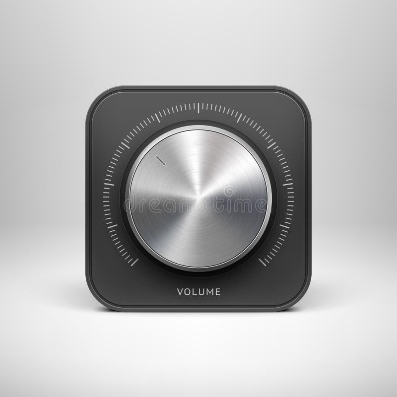 Icône de technologie avec avec la texture de musique en métal illustration libre de droits