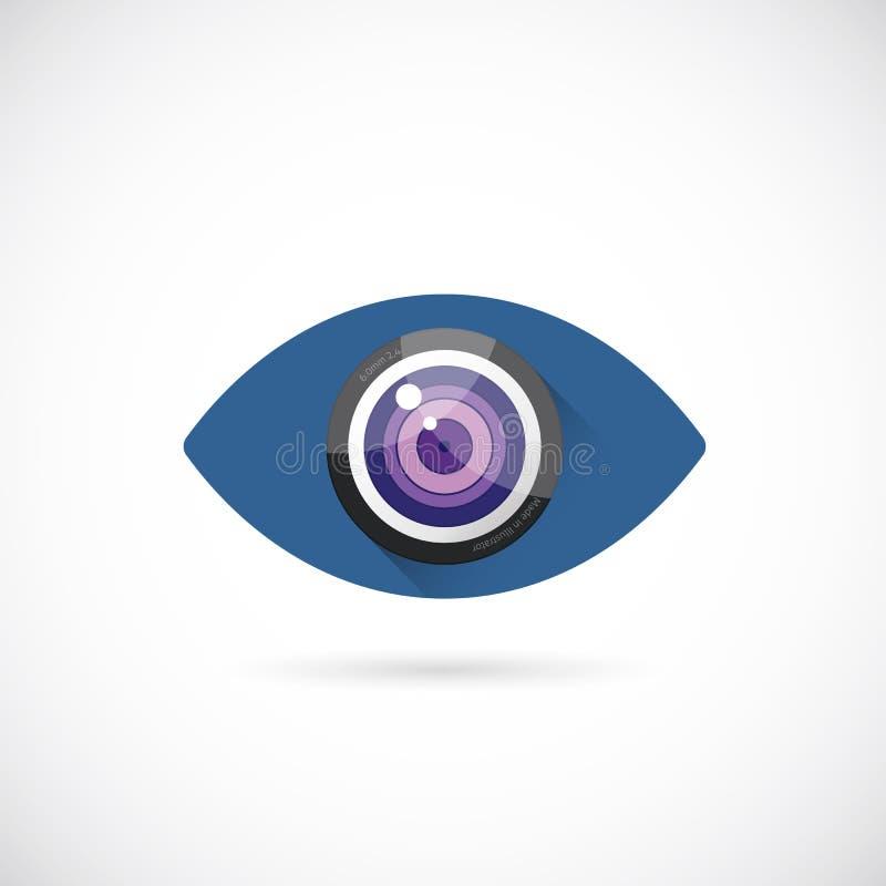 Icône abstraite de symbole de concept de vecteur de cristallin ou illustration libre de droits
