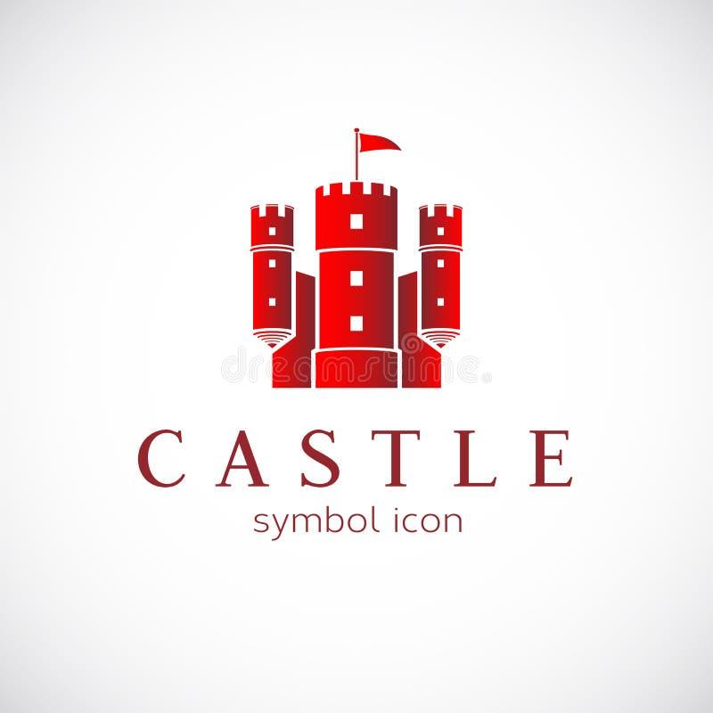 Icône abstraite de vecteur de château illustration de vecteur