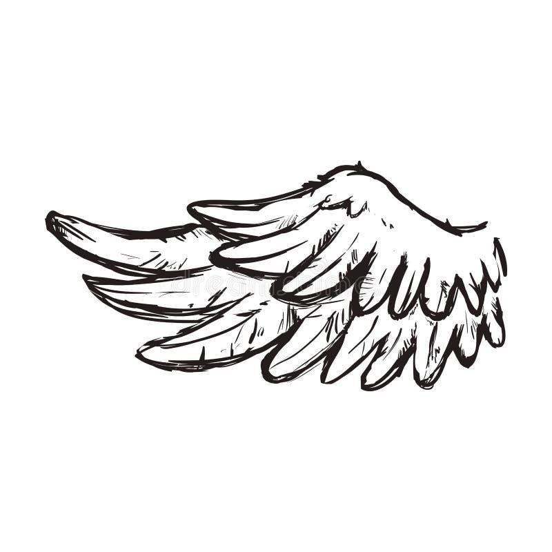 Ic ne animale d 39 ange d 39 oiseau de plume d 39 aile dessin de - Ailes d ange dessin ...