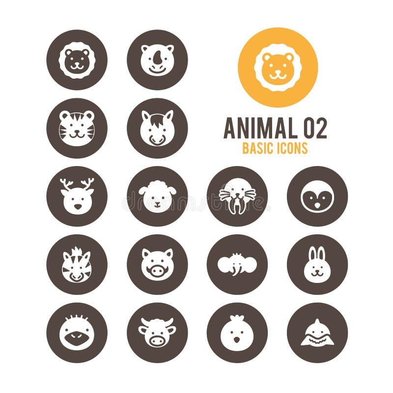 Icône animale de visage Illustration de vecteur illustration stock