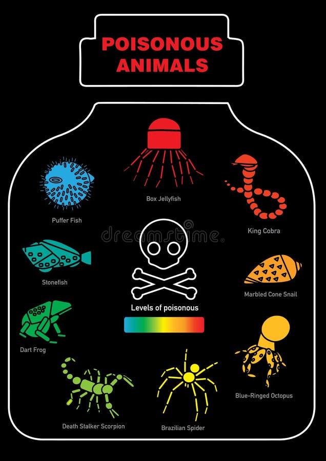 Icône animale toxique infographic photos libres de droits
