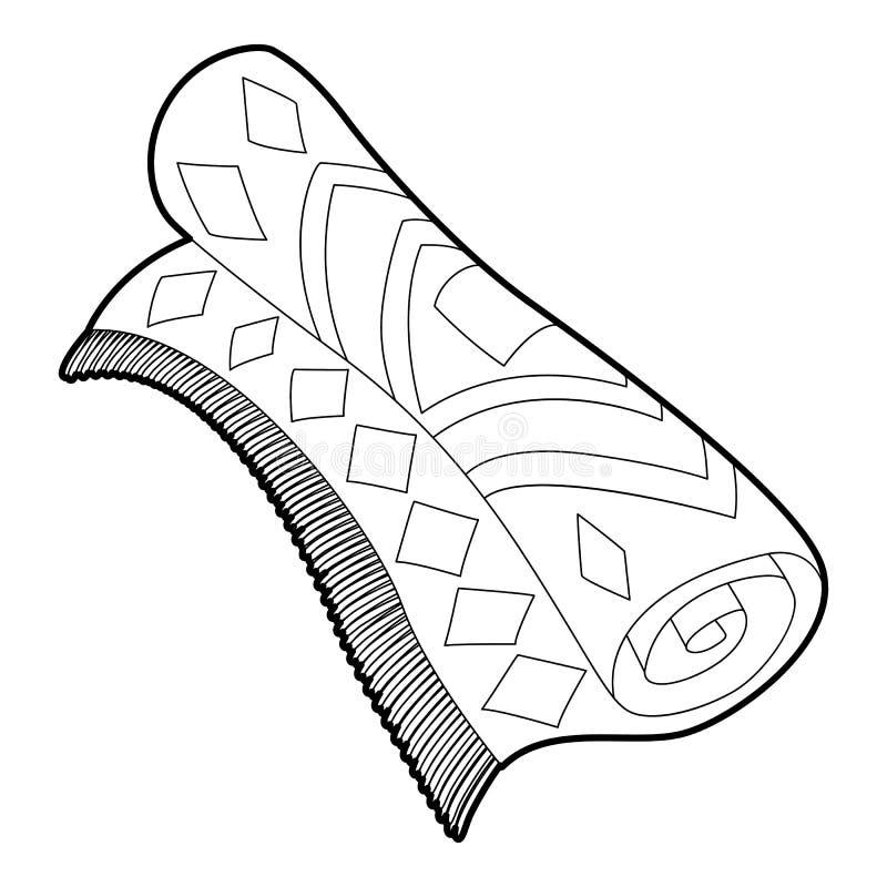 Icône arabe de tapis, style d'ensemble illustration stock