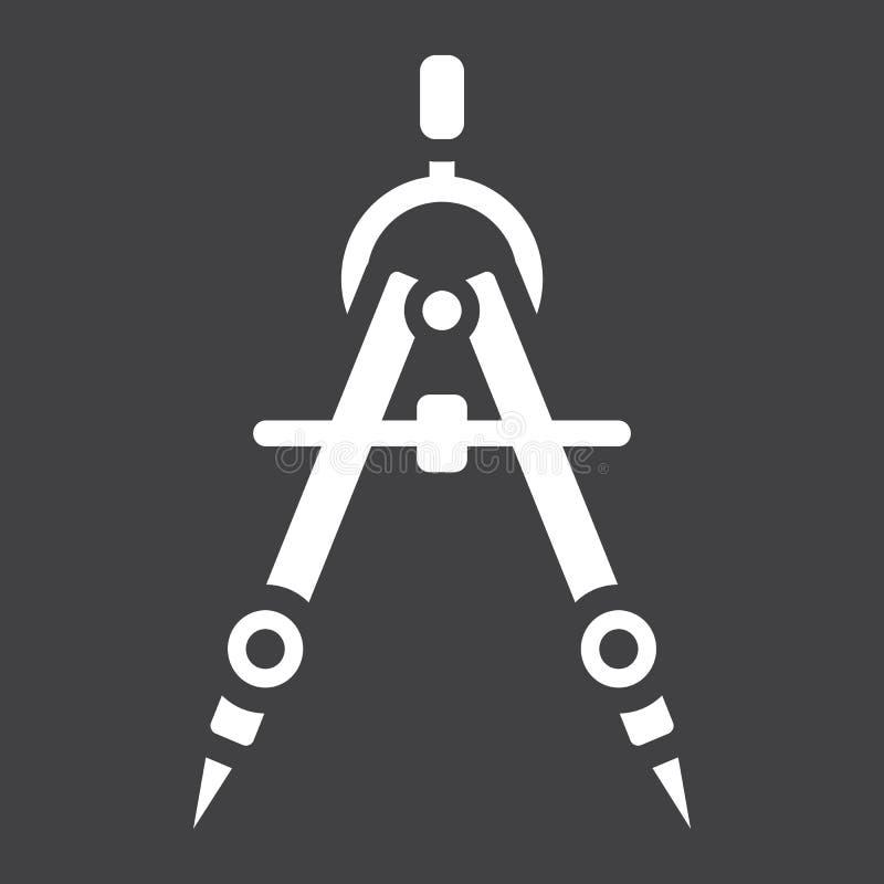 Icône, architecte et géométrie solides de diviseur illustration stock