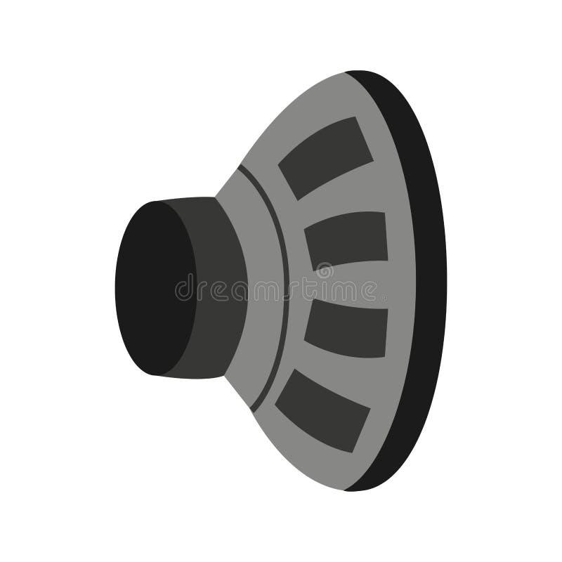 Icône audio de dispositif de haut-parleur illustration stock