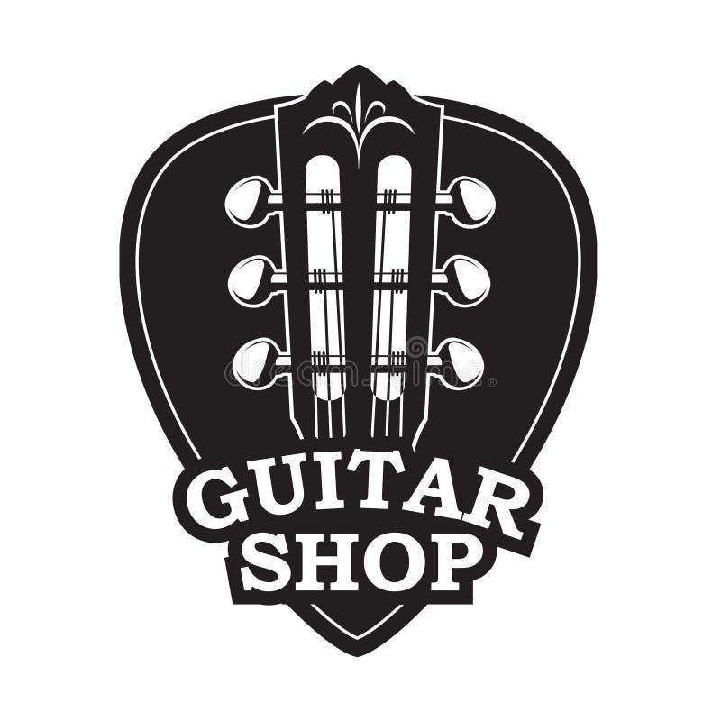 Icône avec le cou et la sélection de guitare illustration libre de droits