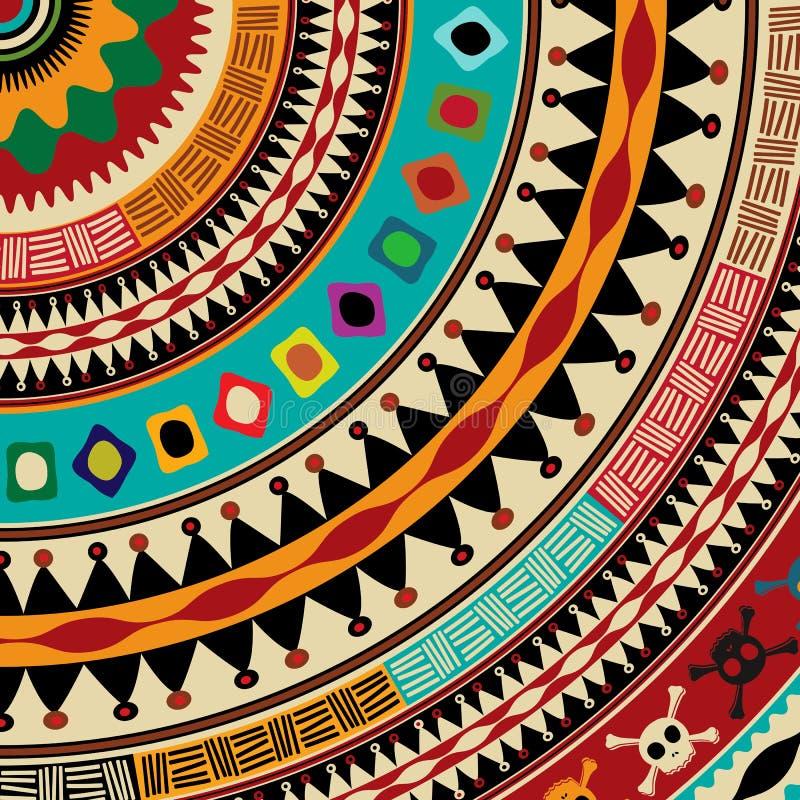 Icône aztèque de mandala illustration de vecteur