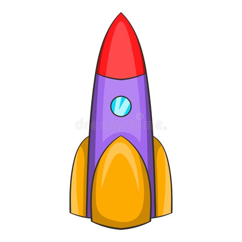 Icône ballistique de fusée, style de bande dessinée illustration de vecteur