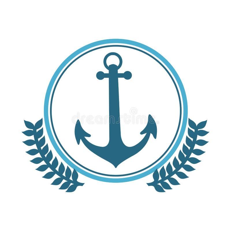 icône bleue d'ancre de symbole illustration libre de droits