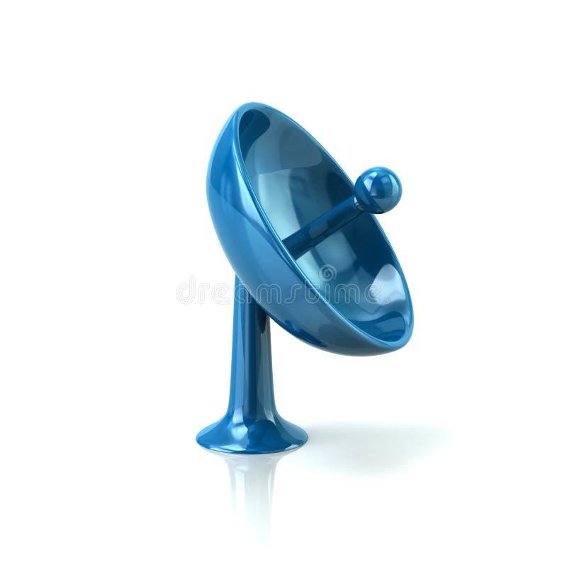 Icône bleue d'antenne de satellite illustration libre de droits