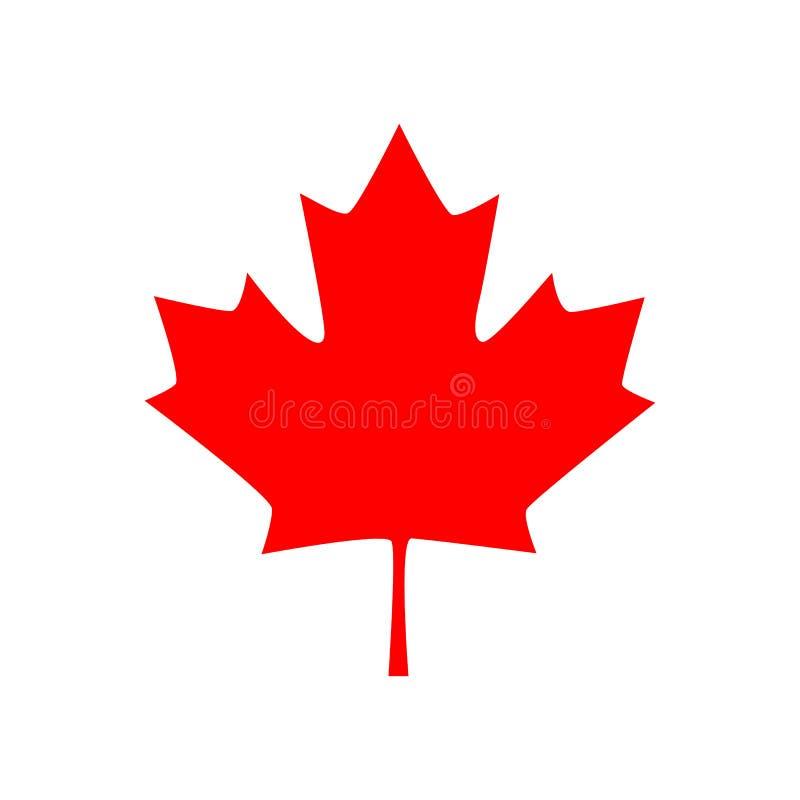Icône canadienne de feuille d'érable Illustration de vecteur illustration libre de droits