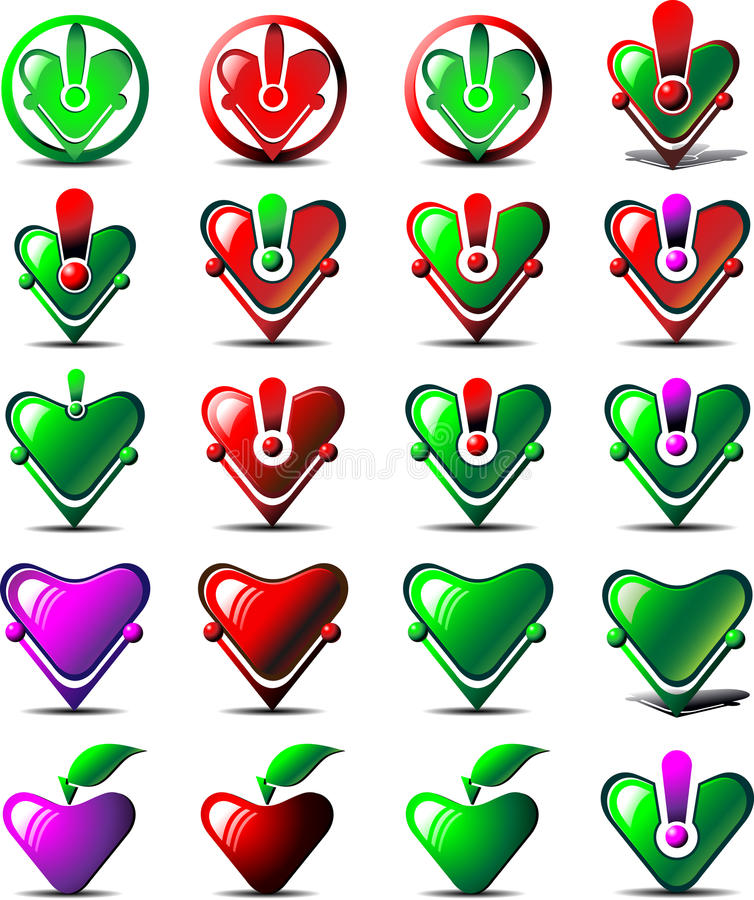 Icône cardiaque de diagnostics illustration de vecteur