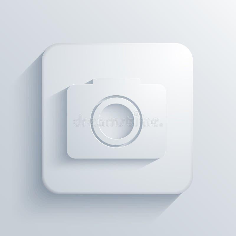 Icône carrée légère de vecteur. Eps10 illustration de vecteur