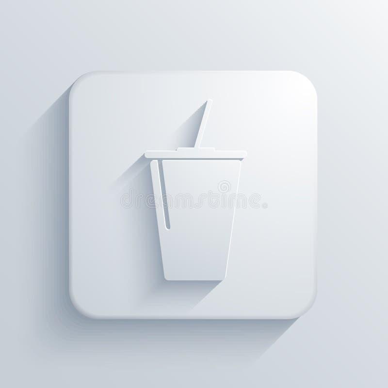 Icône carrée légère de vecteur. Eps10 illustration libre de droits