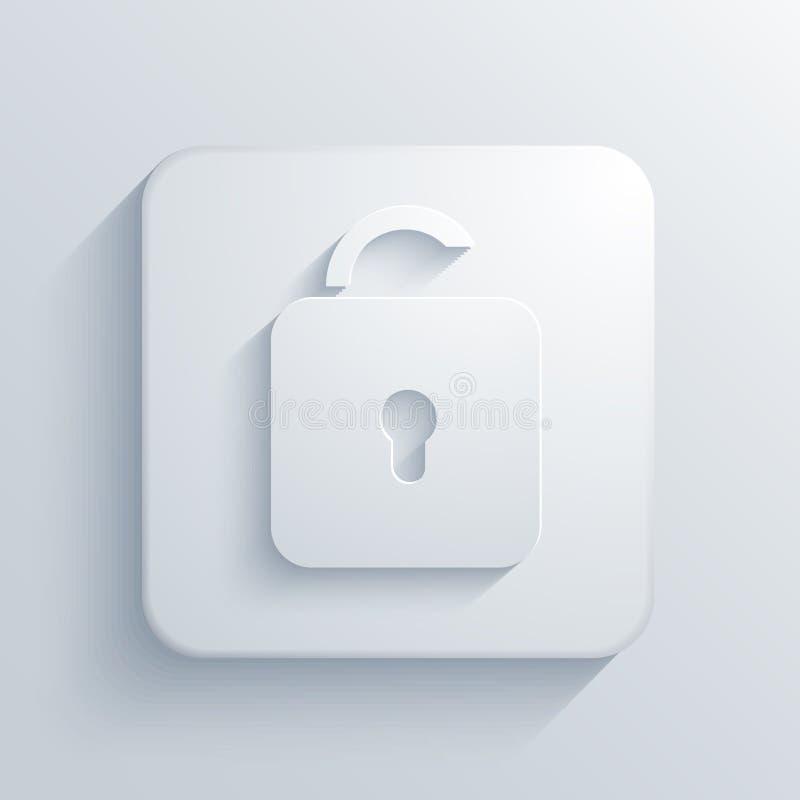 Icône carrée légère de vecteur. Eps10 illustration stock