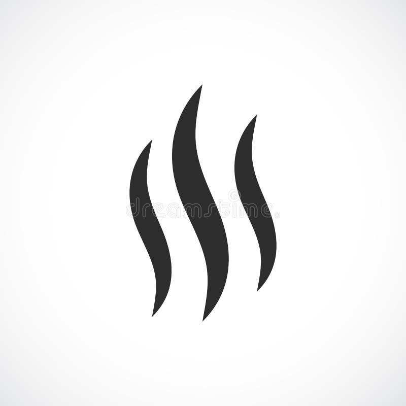 Icône chaude de vecteur de fumée illustration de vecteur