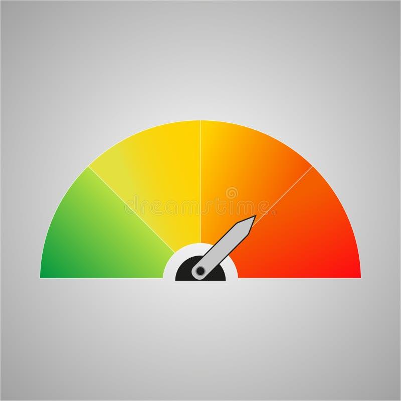 Icône colorée avec des flèches sur un fond gris illustration libre de droits