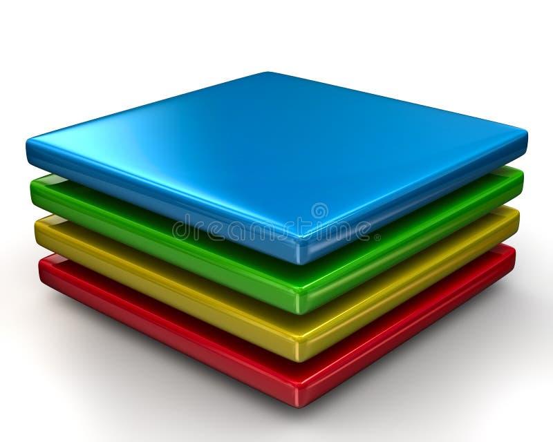 Icône colorée de couches illustration de vecteur