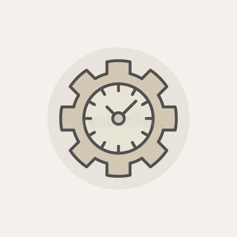 Icône colorée de gestion du temps illustration libre de droits