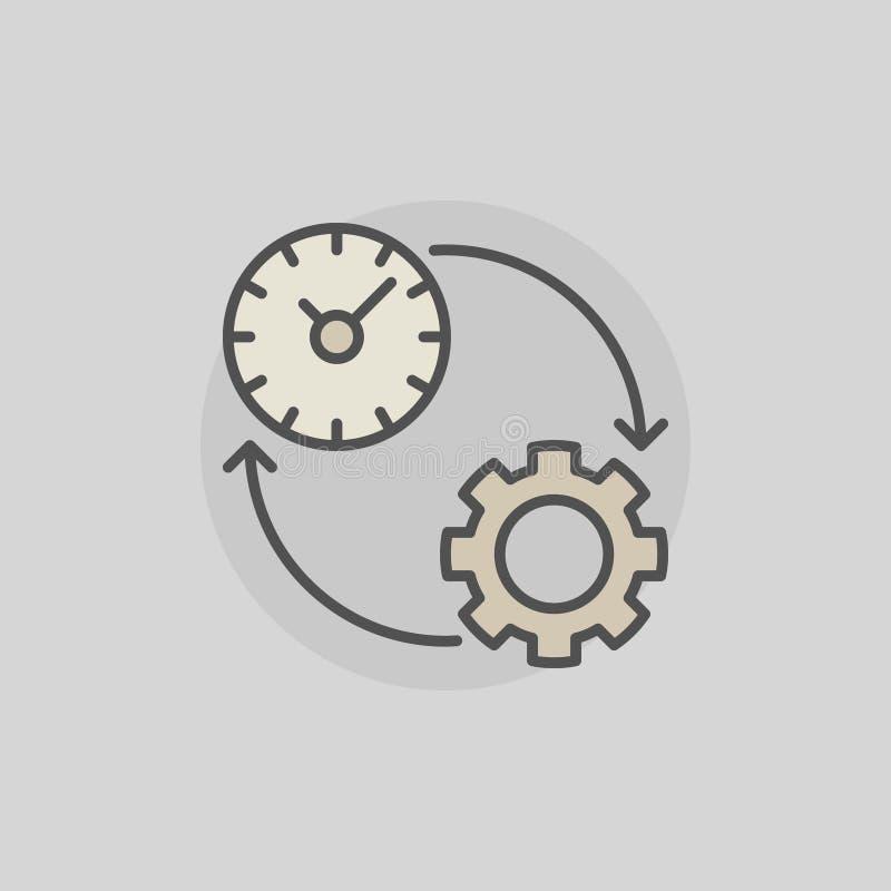 Icône colorée de productivité illustration stock