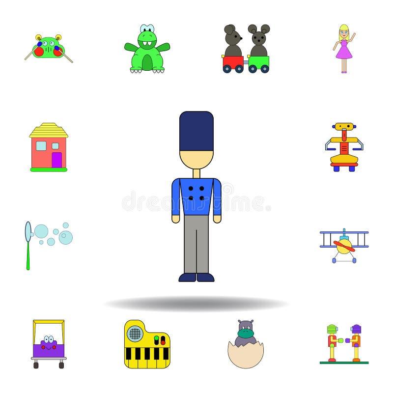 Ic?ne color?e par jouet de soudure de bande dessin?e placez des icônes d'illustration de jouets d'enfants des signes, symboles pe illustration libre de droits
