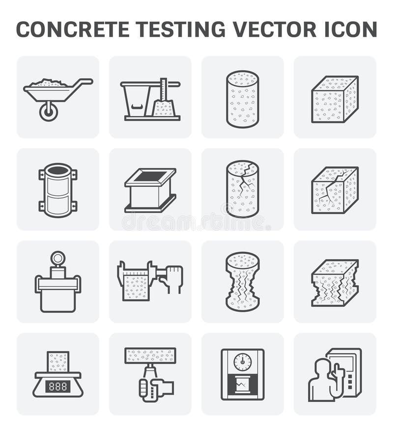Icône concrète d'essai illustration stock