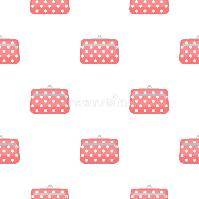 Icône cosmétique de sac dans le style de bande dessinée d'isolement sur le fond blanc Composez l'illustration courante de vecteur illustration libre de droits