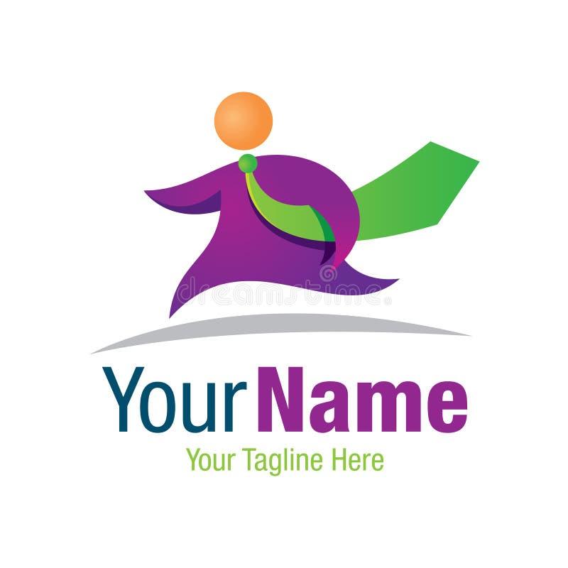 Icône courante de logo de conception graphique de modèle de lien de vert d'homme d'affaires illustration libre de droits