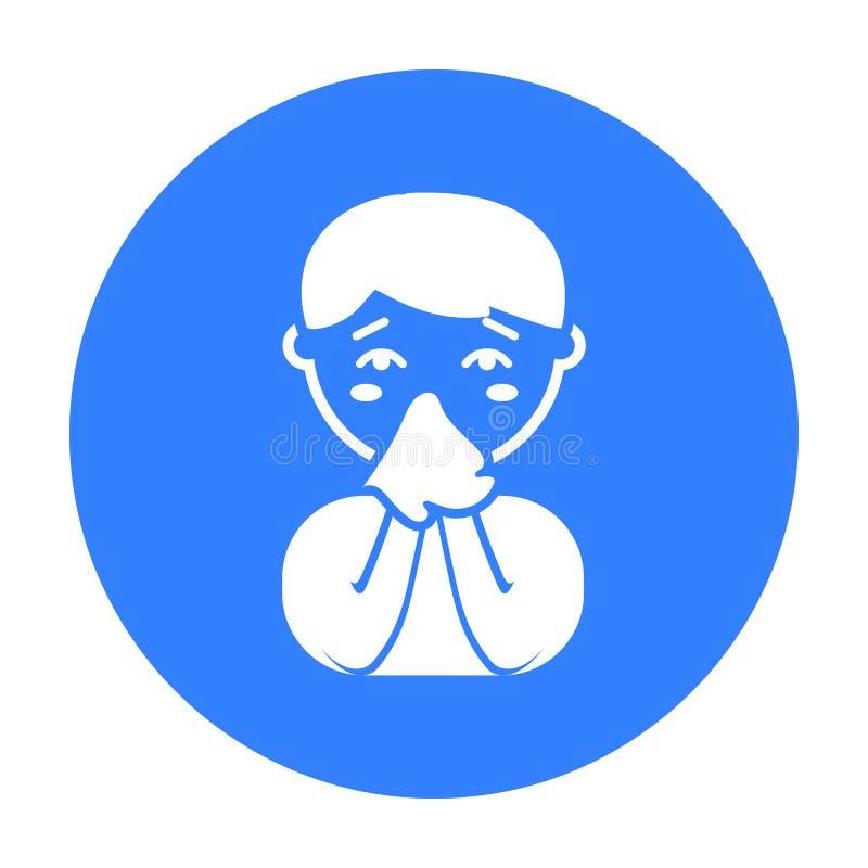 Icône courante de nez Choisissez l'icône en difficulté de la grande défectuosité, la maladie illustration de vecteur