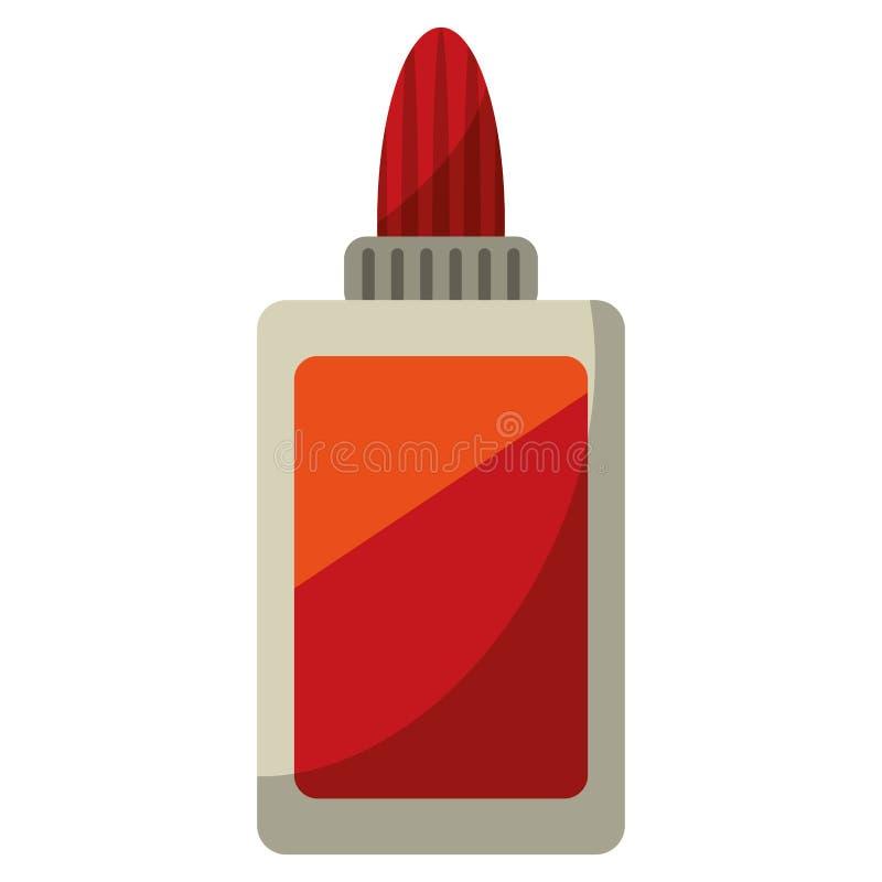 icône d'école de colle de bouteille illustration stock