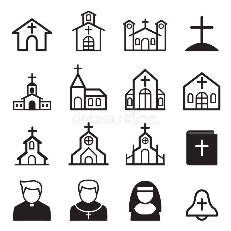 Icône d'église illustration de vecteur