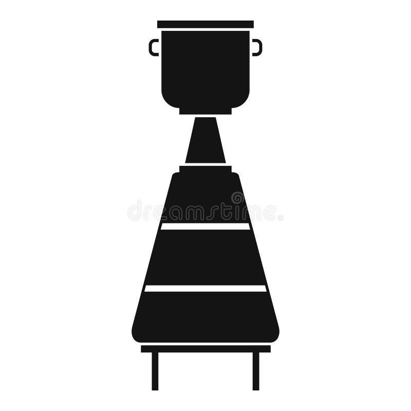 Icône d'équipement de distillerie de vin, style simple illustration stock