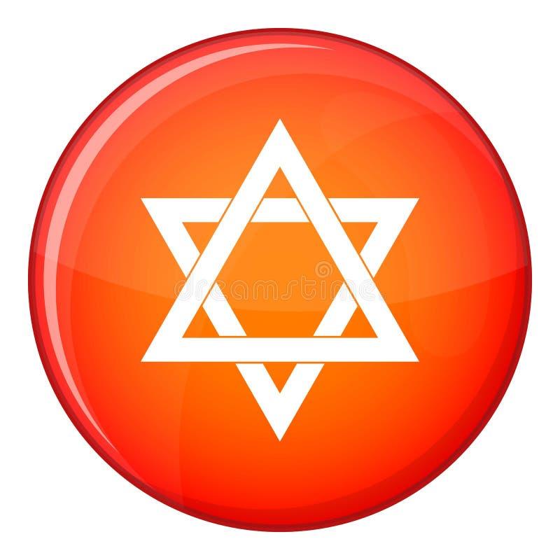 Icône d'étoile de David, style plat illustration libre de droits
