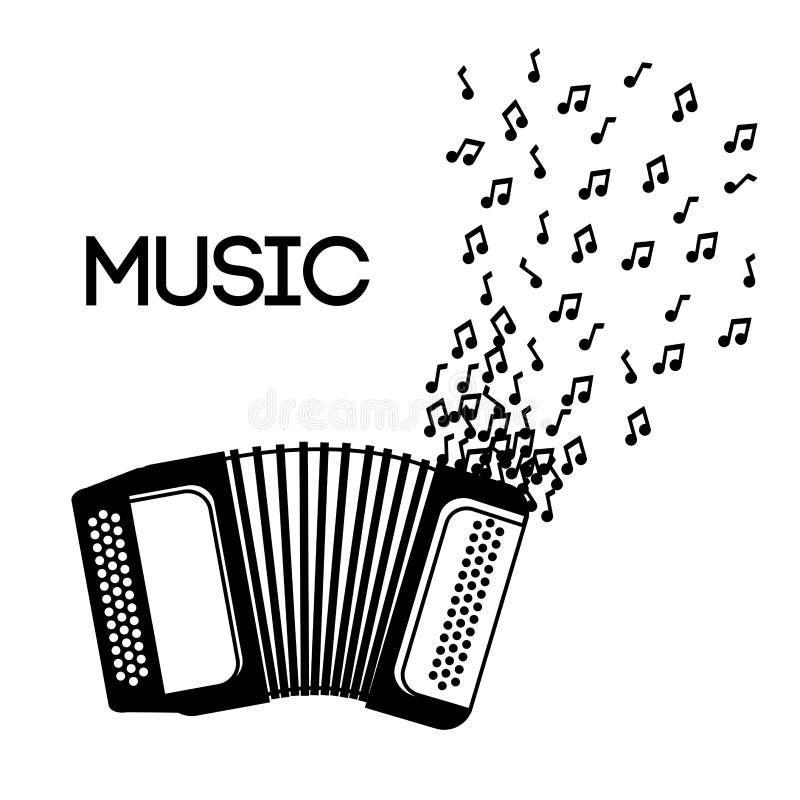 Icône D Accordéon Est Un Vrai Contenu De Musique D âme