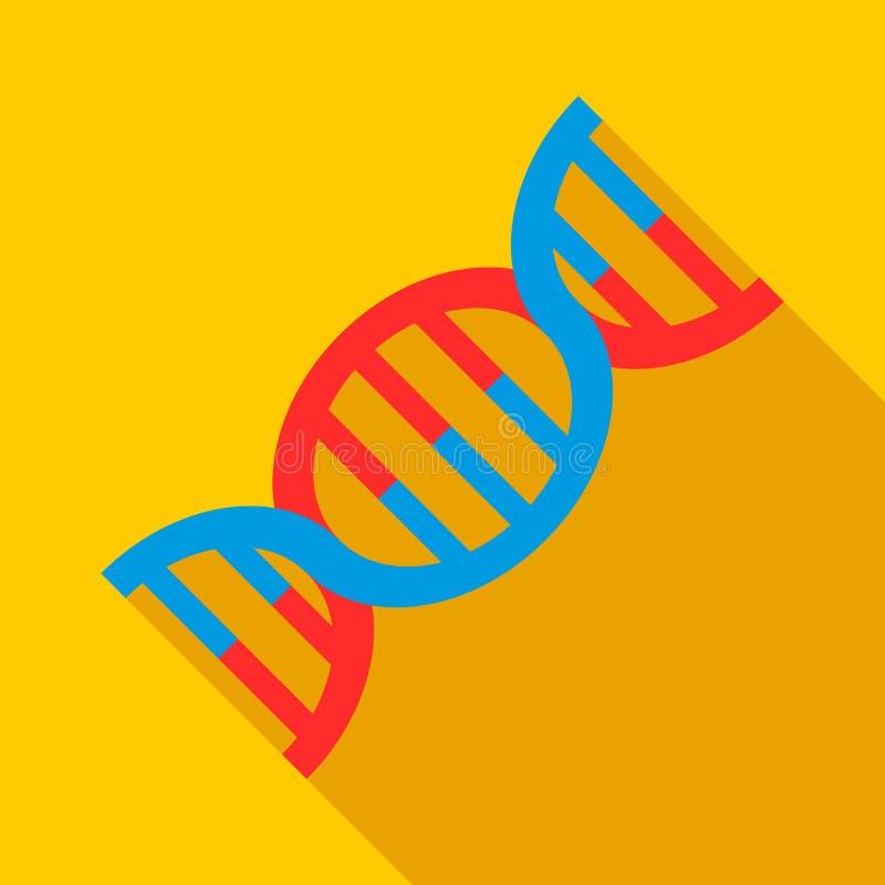Icône d'ADN, style plat illustration de vecteur