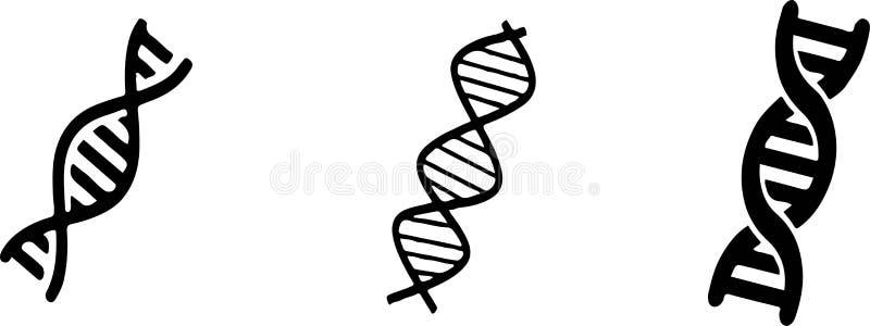 Ic?ne d'ADN sur le fond blanc illustration de vecteur