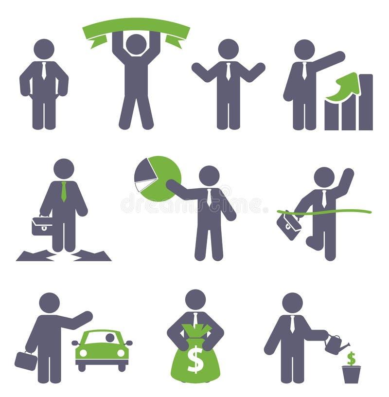 Icône d'affaires illustration stock