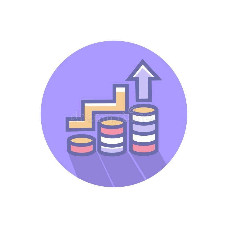 Ic?ne d'affaires de croissance ou de r?ussite commerciale ou d'augmentation ic?ne propre de croissance d'affaires de vecteur avec illustration stock