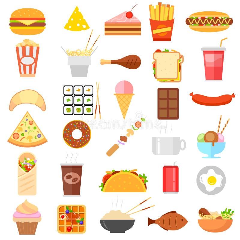 Icône d'aliments de préparation rapide illustration stock