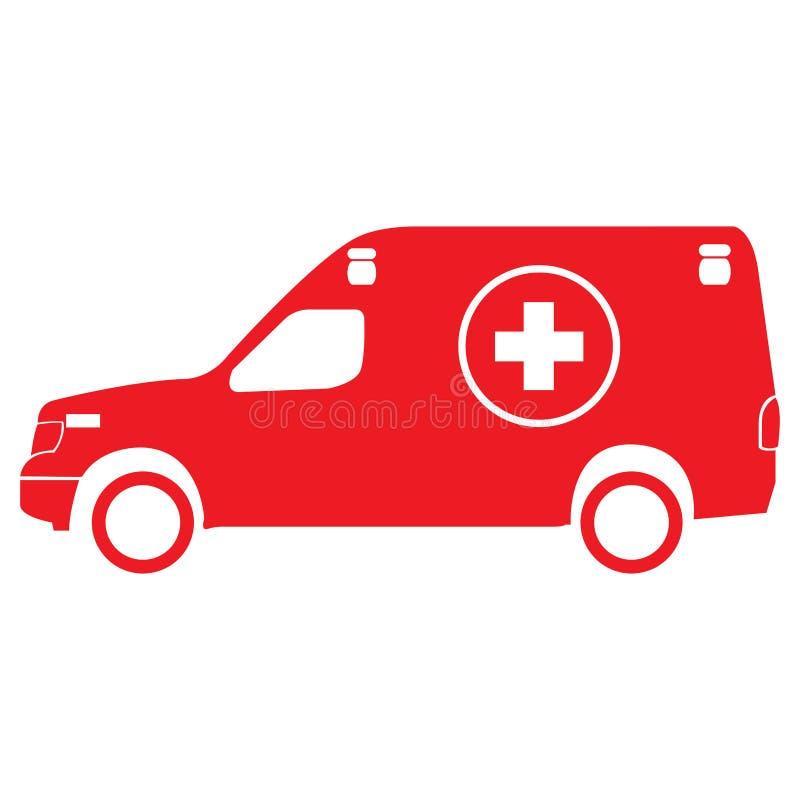 Icône d'ambulance illustration stock