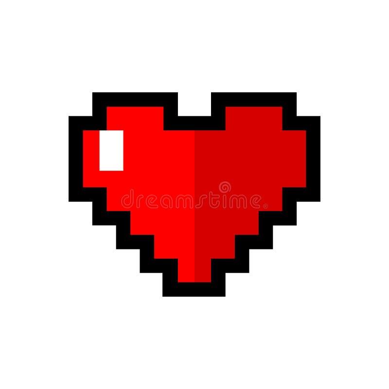 Ic?ne d'amour dans le style de pixel - vecteur illustration stock