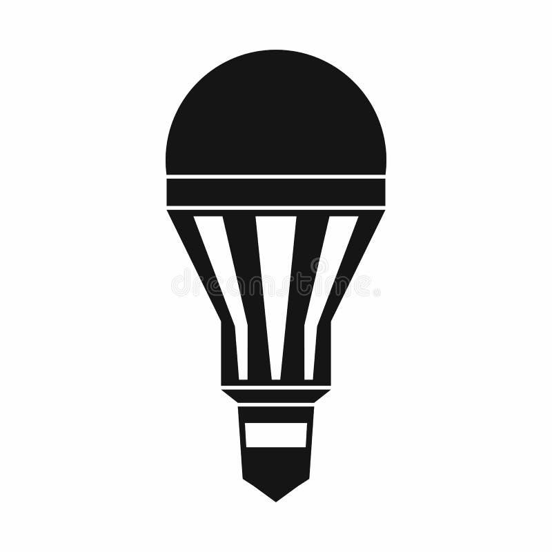 Icône d'ampoule de LED, style simple illustration stock