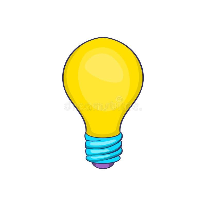 Icône d'ampoule, style de bande dessinée illustration libre de droits