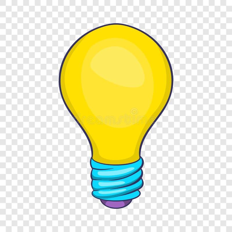 Ic?ne d'ampoule, style de bande dessin?e illustration libre de droits