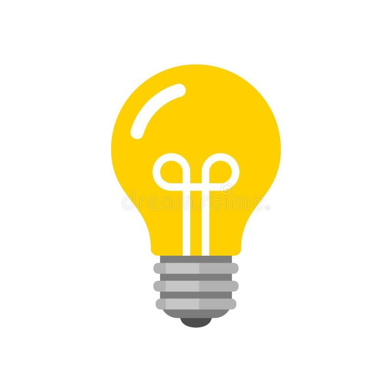 Icône d'ampoule Vecteur plat de style illustration stock