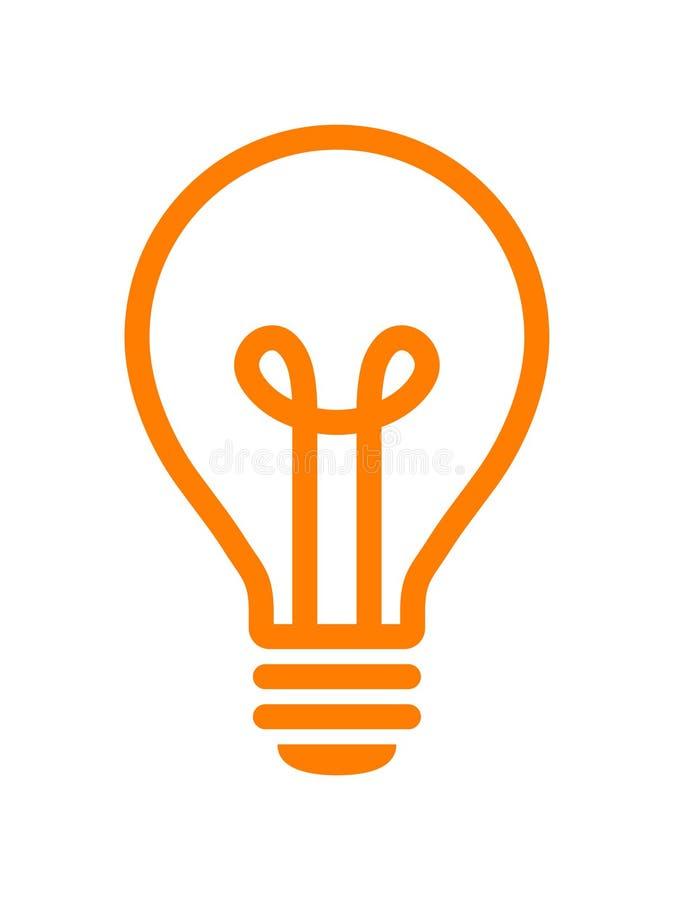 Ic?ne d'ampoule illustration stock