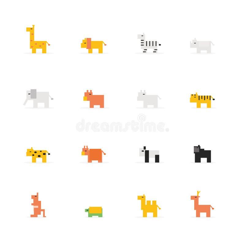 Icône d'animal de faune de pixel illustration de vecteur