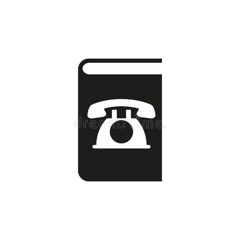 Icône d'annuaire téléphonique Conception de vecteur Symbole d'annuaire téléphonique web dessin jpg AI app logo objet plat image s illustration de vecteur