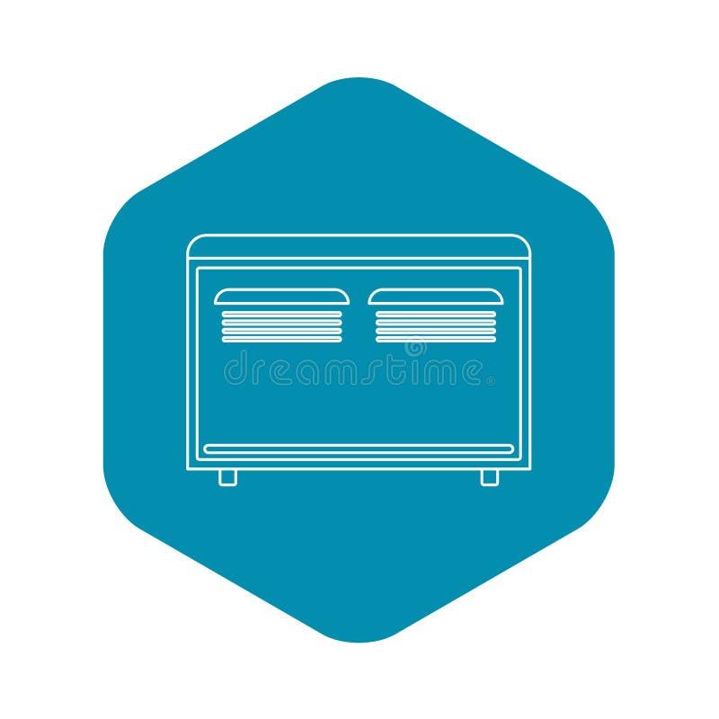 Ic?ne d'appareil de chauffage de convecteur, style d'ensemble illustration stock